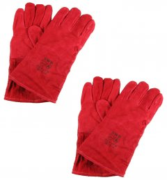 Red Cat 2 Heavy Duty Welders Gauntlets - Click Image to Close